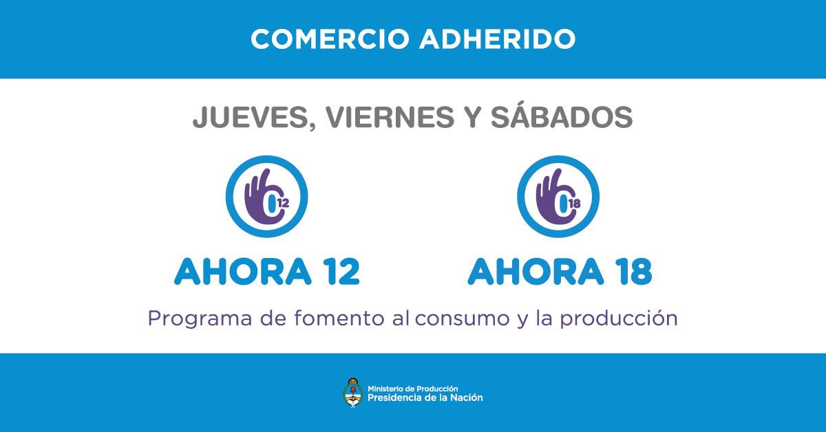 Ahora 12 y Ahora 18 en Corralón De Francesco Arrecifes